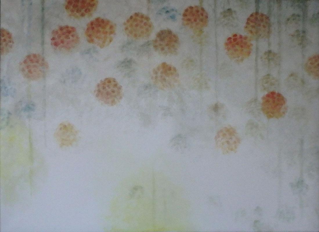 Hortenzie, 130 x 180 cm.