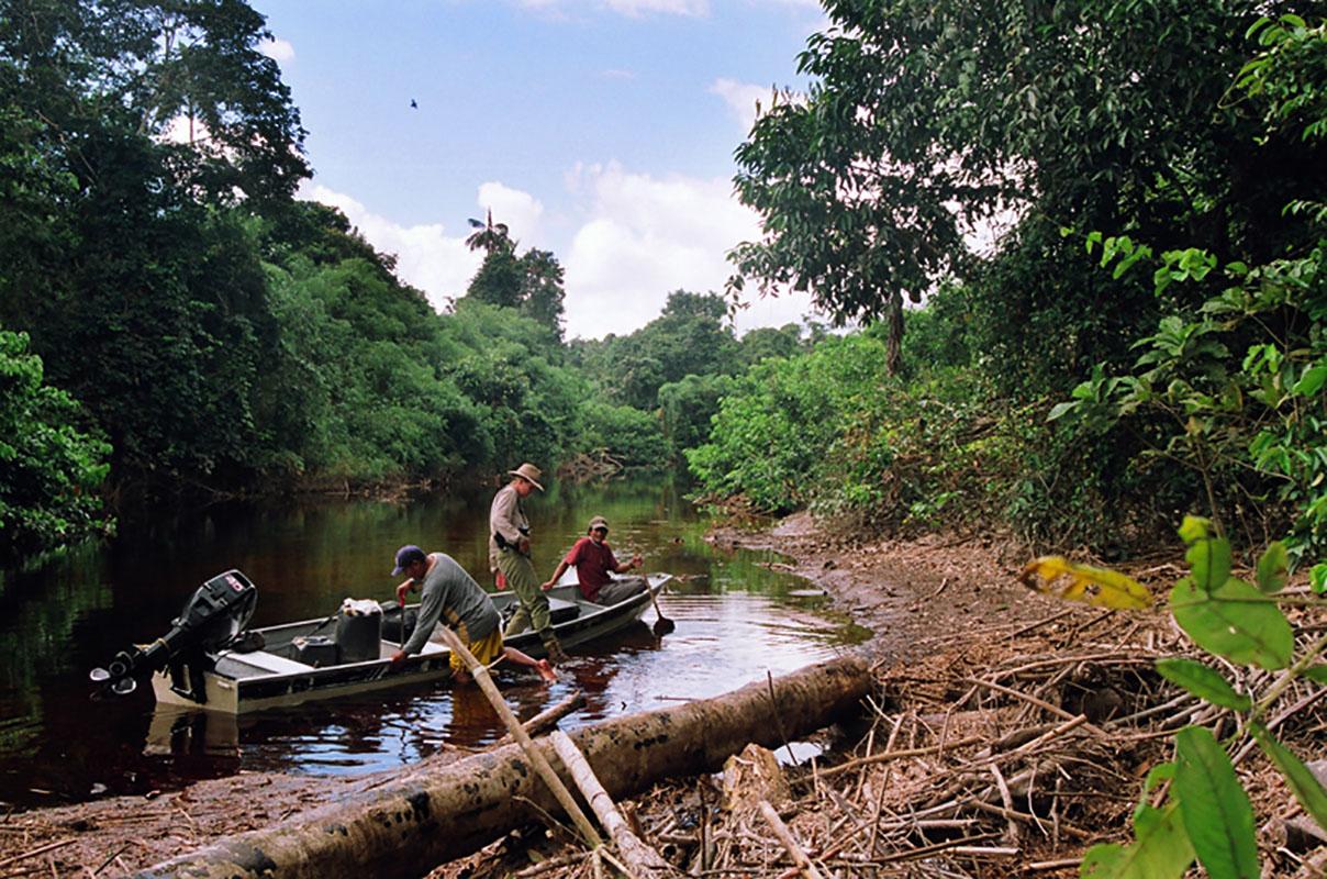 <p>Na soutoku řek Baria a Yatúa. V roce 2007 jsme byli první, komu se podařilo toto spojení (bifurkaci) povodí Orinoka a Amazonky najít a přesně zaměřit GPS (Elvis, Rady a Macho). Venezuela / Brazílie.</p>