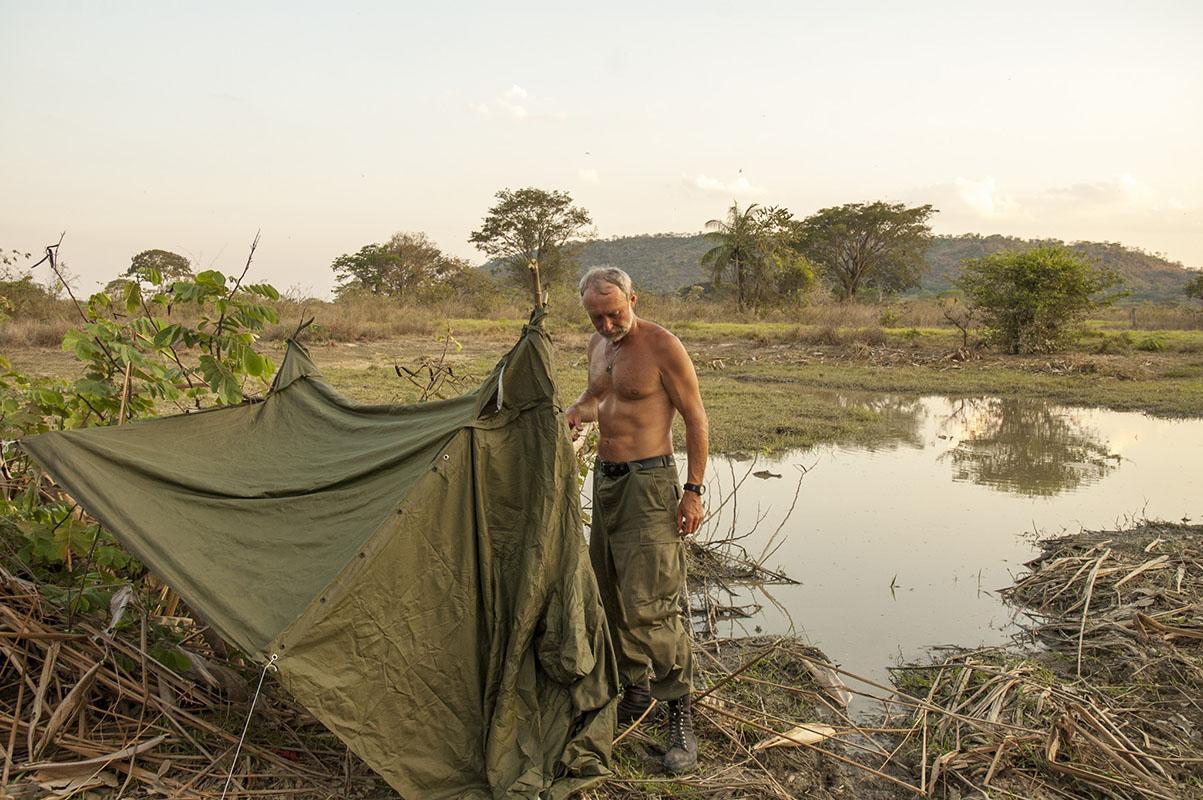 <p>Zvířata často pozoruji z krytu. Llanos, Venezuela (foto Radana Dungelová).</p>